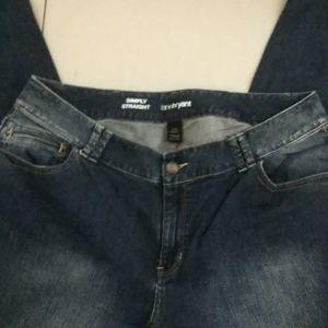 Lane Bryant Simply Straight Jeans